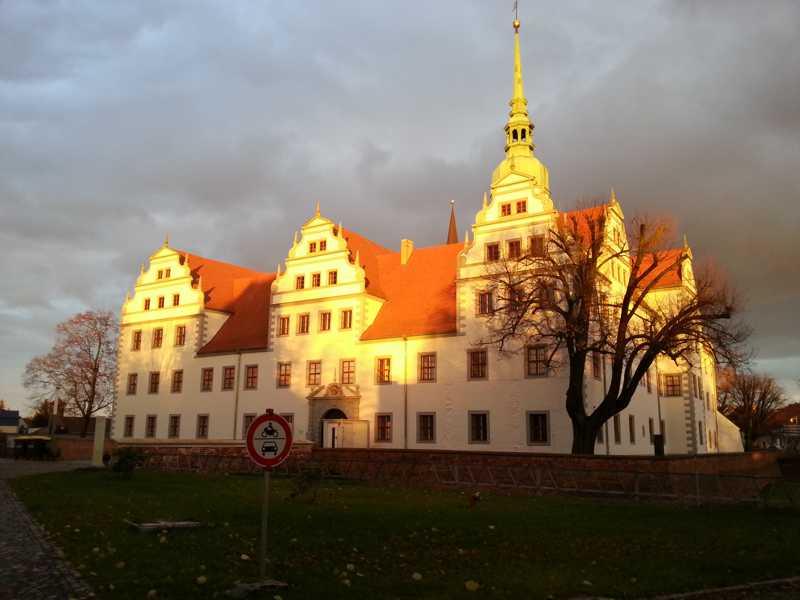 Herbstimpressionen  am Schloss & Klosterkirche Doberlug